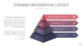 中紫色3D金字塔PPT信息图表22