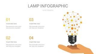 黄色创意灯PPT信息图6