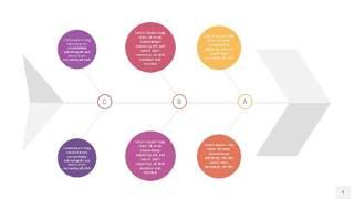 黄紫色鱼骨PPT信息图表9