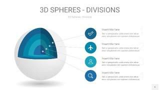 青色3D球体切割PPT信息图6