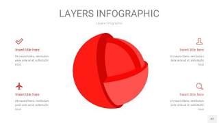 红色3D分层PPT信息图43