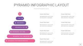 粉紫色3D金字塔PPT信息图表10