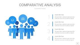 天蓝色用户人群分析PPT图表9