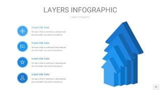 蓝色3D分层PPT信息图35
