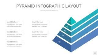 天蓝绿3D金字塔PPT信息图表21