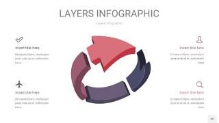 莫兰迪紫色3D分层PPT信息图40