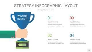 四色战略计划统筹PPT信息图23