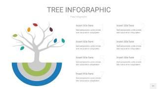 多彩树状图PPT图表11