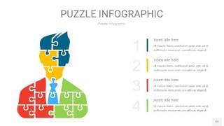 多彩色拼图PPT图表12
