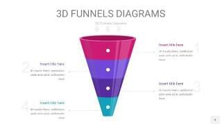 紫色3D漏斗PPT信息图表4