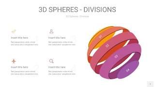 渐变紫黄色3D球体切割PPT信息图7