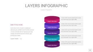 紫蓝色3D分层PPT信息图20