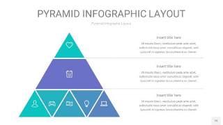 天蓝绿3D金字塔PPT信息图表15