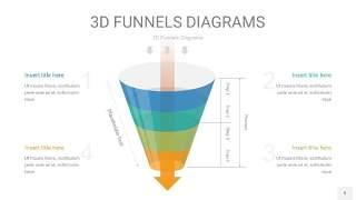 彩色3D漏斗PPT信息图表9