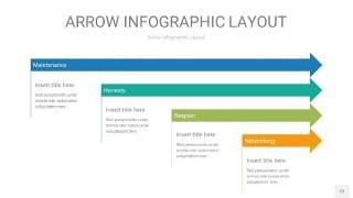 黄蓝绿箭头PPT信息图表12