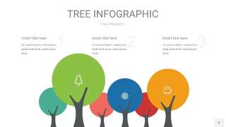 红蓝绿树状图PPT图表8