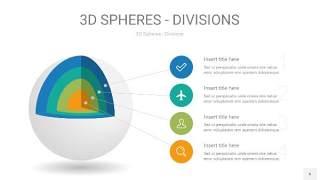 彩色3D球体切割PPT信息图6
