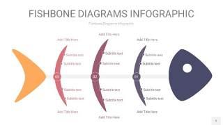 中紫色鱼骨PPT信息图表5