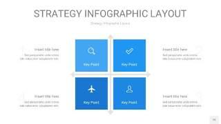 蓝色战略计划统筹PPT信息图15