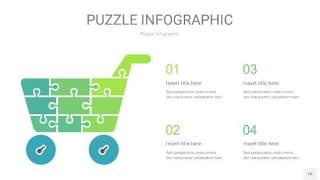 浅绿色拼图PPT图表16