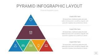 黄蓝绿色3D金字塔PPT信息图表15