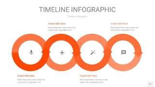 橘红色时间轴PPT信息图22