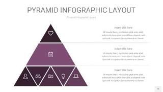 深紫色3D金字塔PPT信息图表15