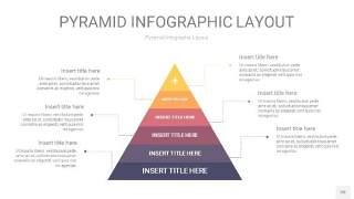 中紫色3D金字塔PPT信息图表20