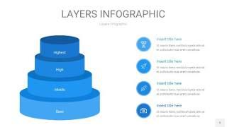 蓝色3D分层PPT信息图5
