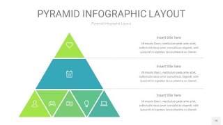 浅绿色3D金字塔PPT信息图表15