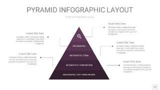 深紫色3D金字塔PPT信息图表19