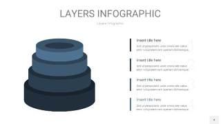 深天蓝色3D分层PPT信息图4