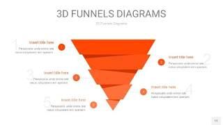 橘红色3D漏斗PPT信息图表13