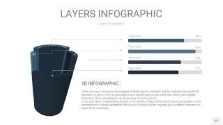 深天蓝色3D分层PPT信息图53