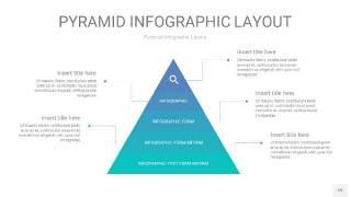 天蓝绿3D金字塔PPT信息图表19