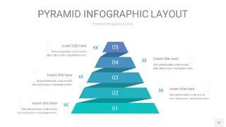 天蓝绿3D金字塔PPT信息图表12