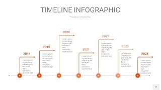 橘红色时间轴PPT信息图12