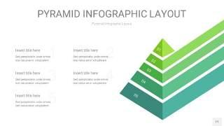 浅绿色3D金字塔PPT信息图表21