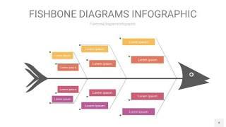 黄紫色鱼骨PPT信息图表4