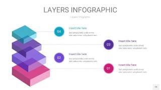 紫蓝色3D分层PPT信息图28