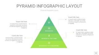 浅绿色3D金字塔PPT信息图表18