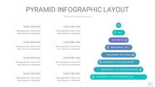 天蓝绿3D金字塔PPT信息图表11