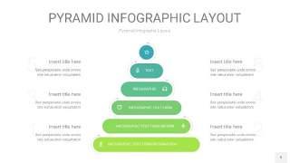 浅绿色3D金字塔PPT信息图表9