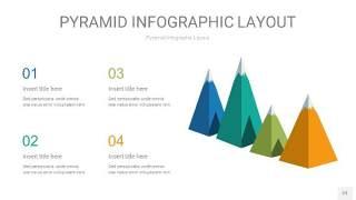 黄蓝绿色3D金字塔PPT信息图表23