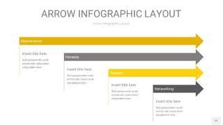 灰黄色箭头PPT信息图表12