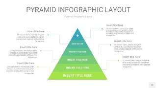浅绿色3D金字塔PPT信息图表20