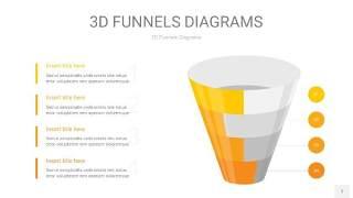 黄色3D漏斗PPT信息图表7