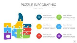 多彩色拼图PPT图表15