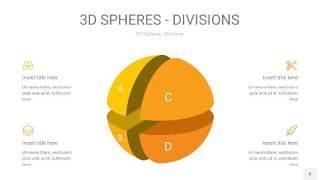 黄色3D球体切割PPT信息图8