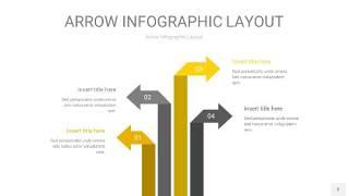 灰黄色箭头PPT信息图表3